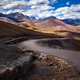 Road to the mountain with out of focus foreground, Leh, Ladakh, India - PhotoDune Item for Sale
