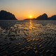 Sand waves texture with reflection of sunset on the Pak Meng beach, Trang, Thailand - PhotoDune Item for Sale