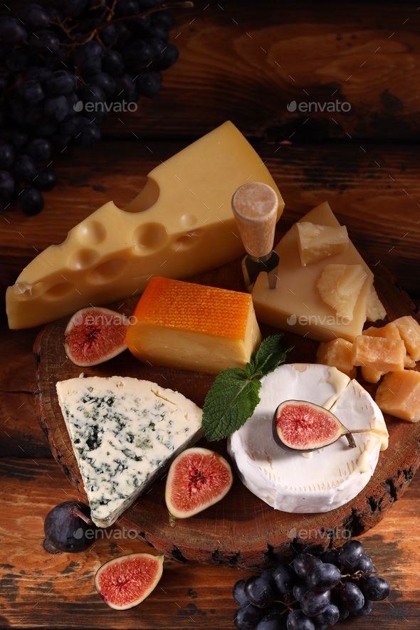 Assortment of Cheese - Stock Photo - Images