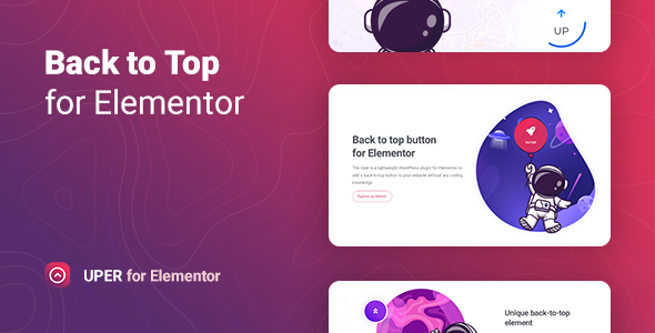 Uper – Back to Top Button for Elementor