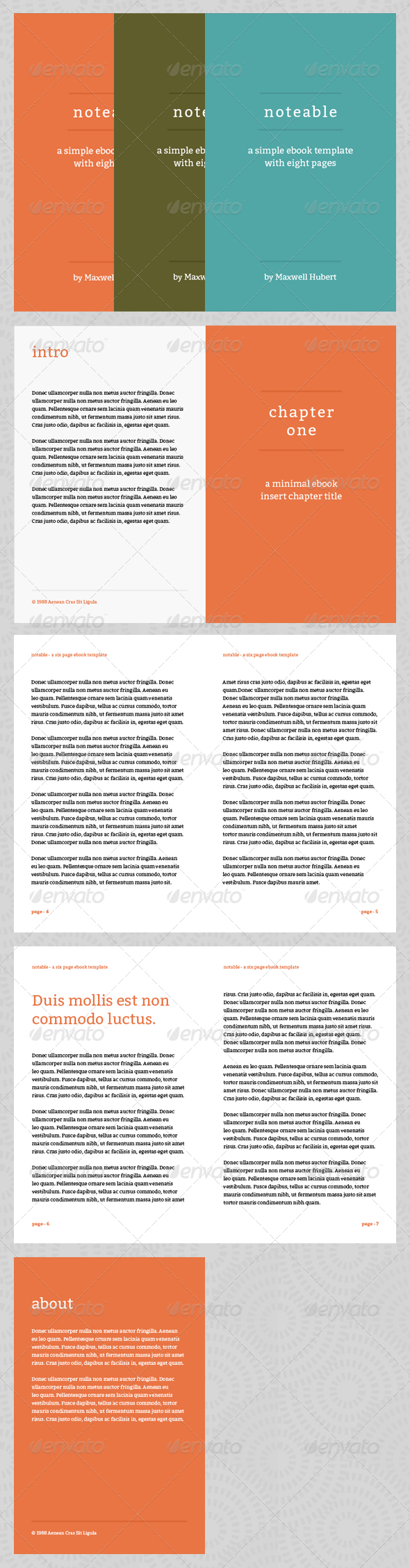Free Ebook Templates. notable ebook template or print book by ...