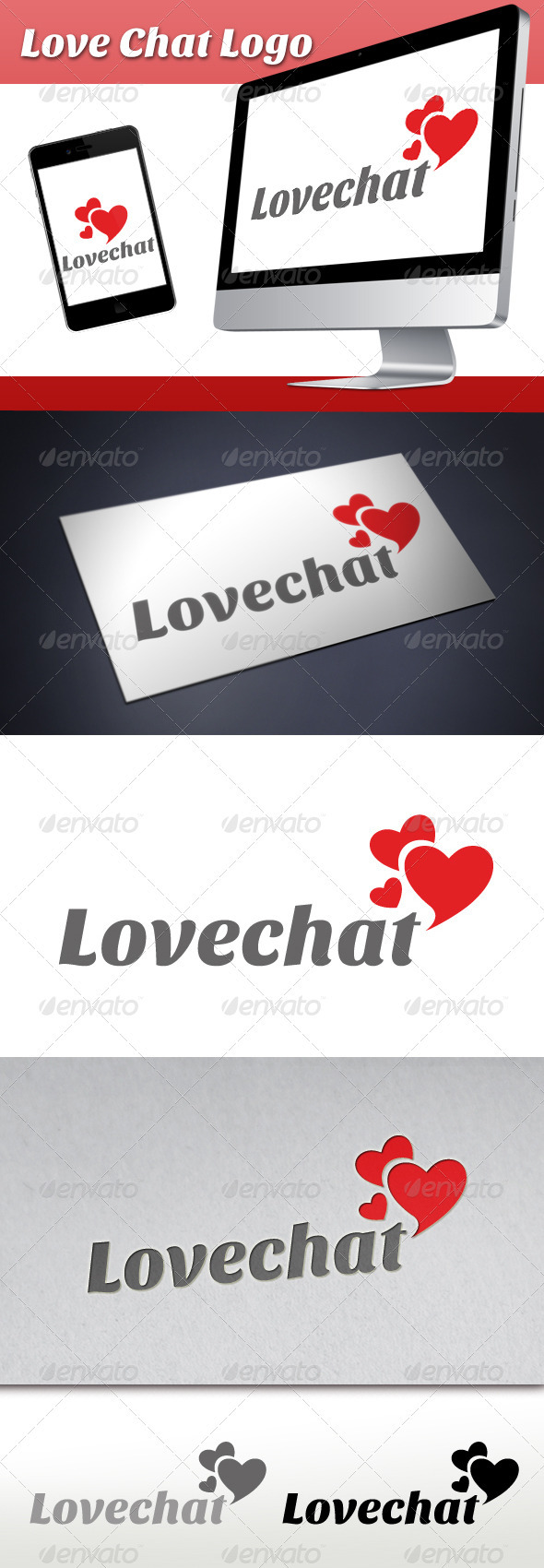 Love Chat Logo 1 - Symbols Logo Templates