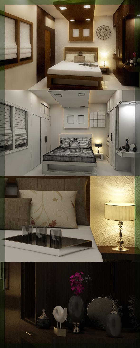 Edit Bed Room 3d interior design 8080 109 - 3DOcean Item for Sale