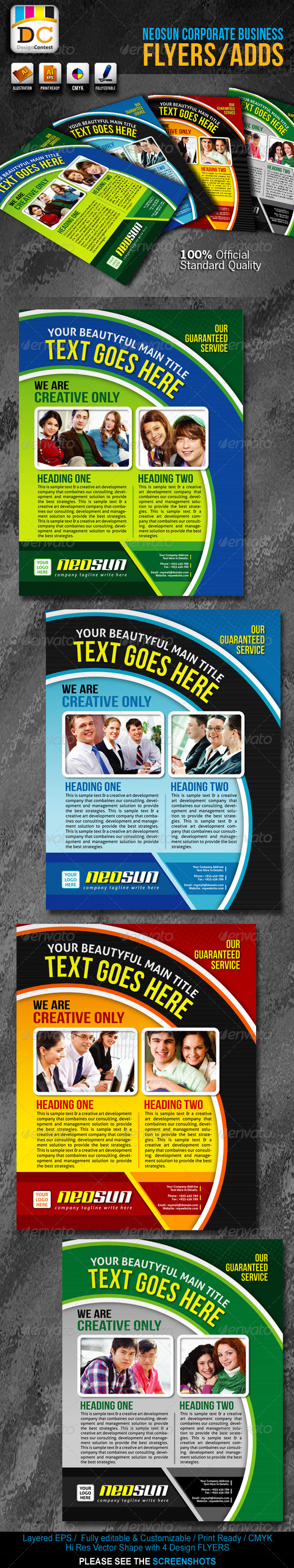 Neo Sun Corporate Business Flyers/Adds - Corporate Flyers
