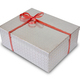 Gift box isolated on white. Packaging. Birthday and christmas celebration - PhotoDune Item for Sale