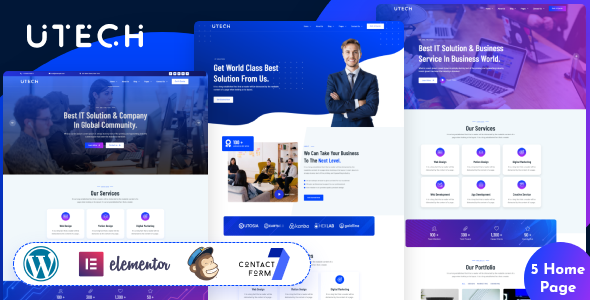 uTech - IT Solutions & Services WordPress Theme