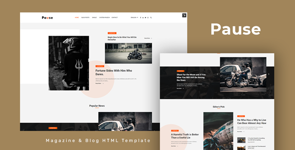 Fabulous Pause - Blog and Magazine HTML Template