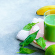 Green smoothie with spinach leaves copy space - PhotoDune Item for Sale