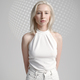 Futuristic young woman in white clothes - PhotoDune Item for Sale