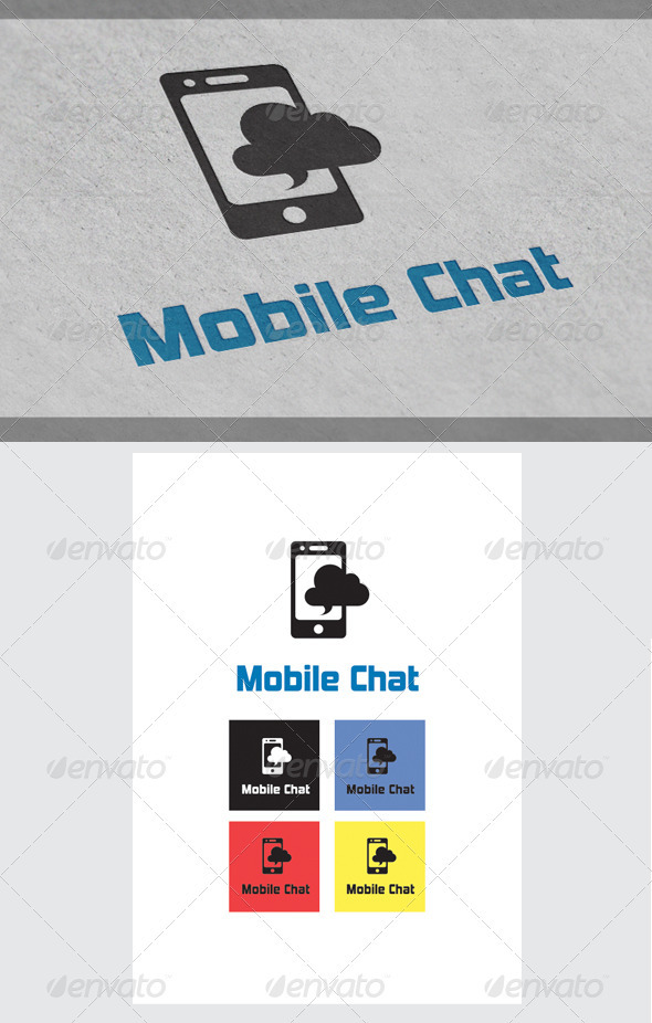 Mobile Chat Logo Templates - Objects Logo Templates