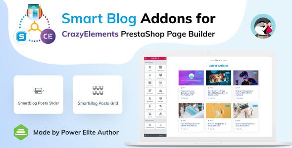 Smart Blog Addons for Crazy Elements PrestaShop Page Builder