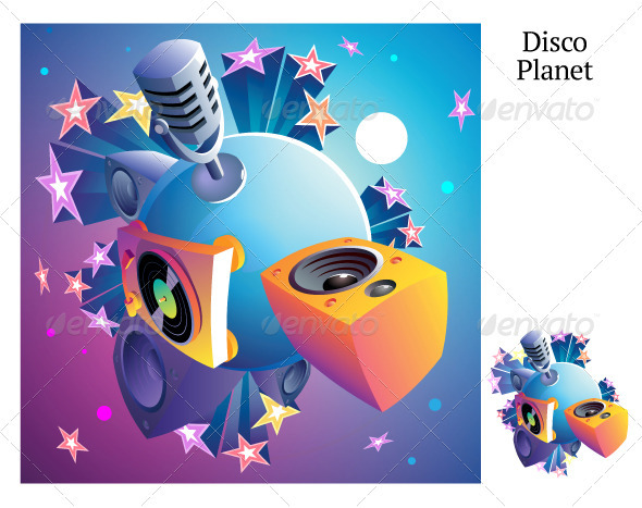 Disco Party Planet - Media Technology
