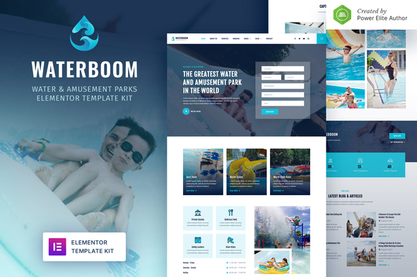 Waterboom – Water & Amusement Park Elementor Template Kit