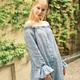 Street style fashion. Girl model in a multiply linen dresses. Pretty girl tourist. - PhotoDune Item for Sale