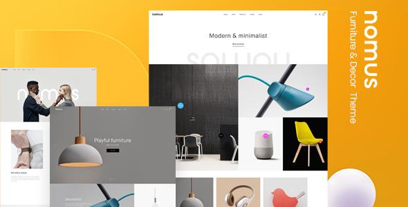 Nomus – Furniture  & Decor WooCommerce WordPress Theme