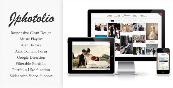 JPhotolio: Responsive Wedding Photography Template by jegtheme ...