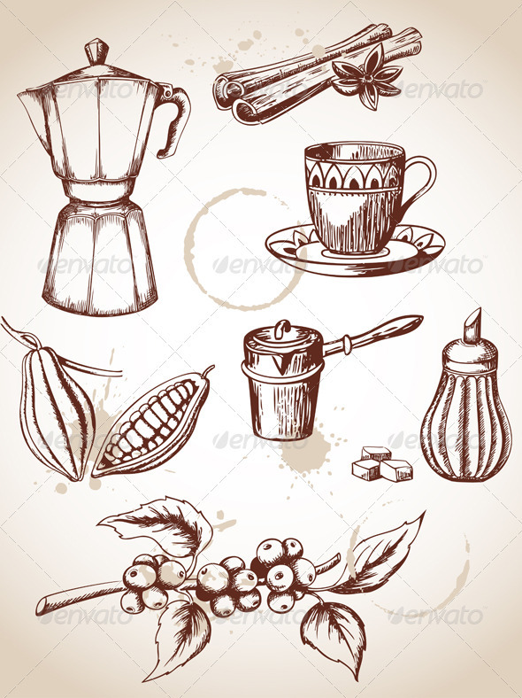Vintage Coffee - Food Objects