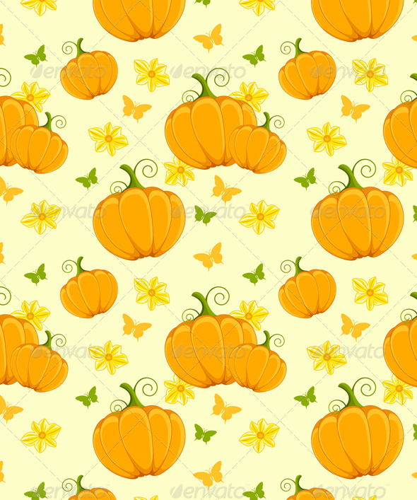 Seamless with Pumpkin - Patterns Decorative