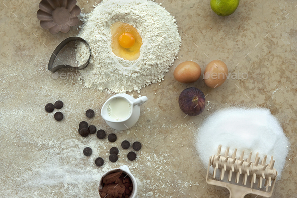 Making a cake in a bakery - Stock Photo - Images