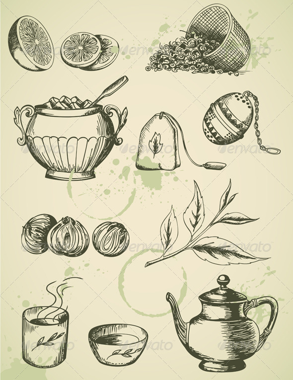 Vintage Tea - Food Objects