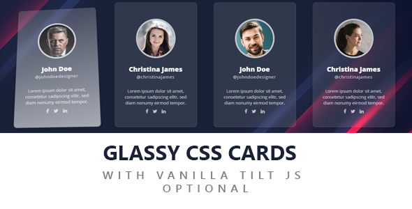 GLASSY CSS CARDS