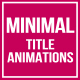 Minimal Title Animations for FCPX - VideoHive Item for Sale