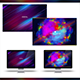 Colorful Abstract Photoshop Background Template Bundle 2