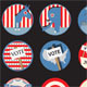 Retro Presidential Election Badges - GraphicRiver Item for Sale