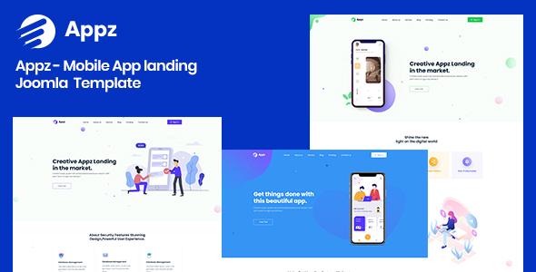 Appz - Mobile App landing Joomla 4 Template