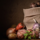 potatoes in a cloth bag and other vegetables - PhotoDune Item for Sale
