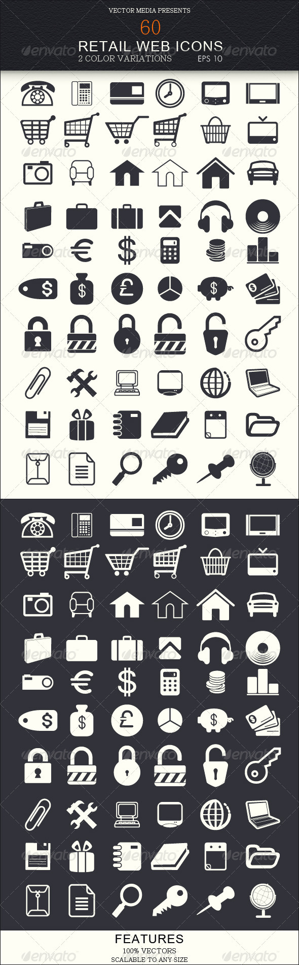 60 Retail Web Icons - Web Icons