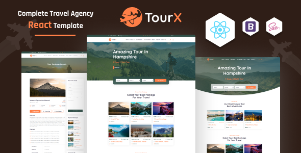 TourX - Travels Tourism Agency React Template