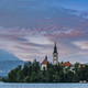 Romantic Bled Lake with Church on Island in Slovenia at Sunset - PhotoDune Item for Sale