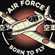 Retro Japanese Air Force T-Shirt Design