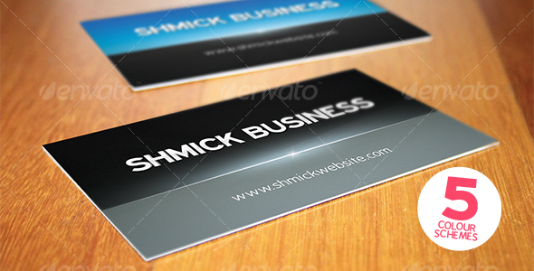 Print ready shmick professional business card - Corporate Business Cards