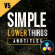 Gold Simple Lower Thirds | 4K for Davinci Resolve - VideoHive Item for Sale