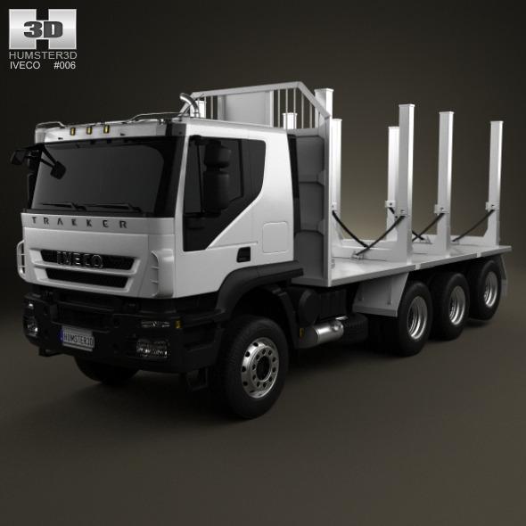 Iveco Trakker Log Truck 4-axis 2012