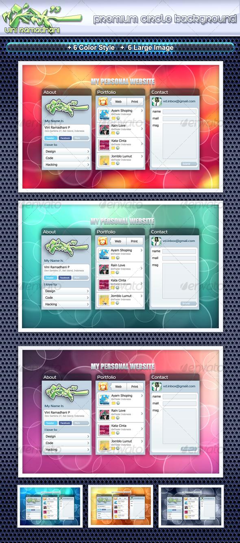 Premium Circle Background - Backgrounds Graphics