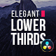 Elegant Lower Thirds for Davinci Resolve - VideoHive Item for Sale