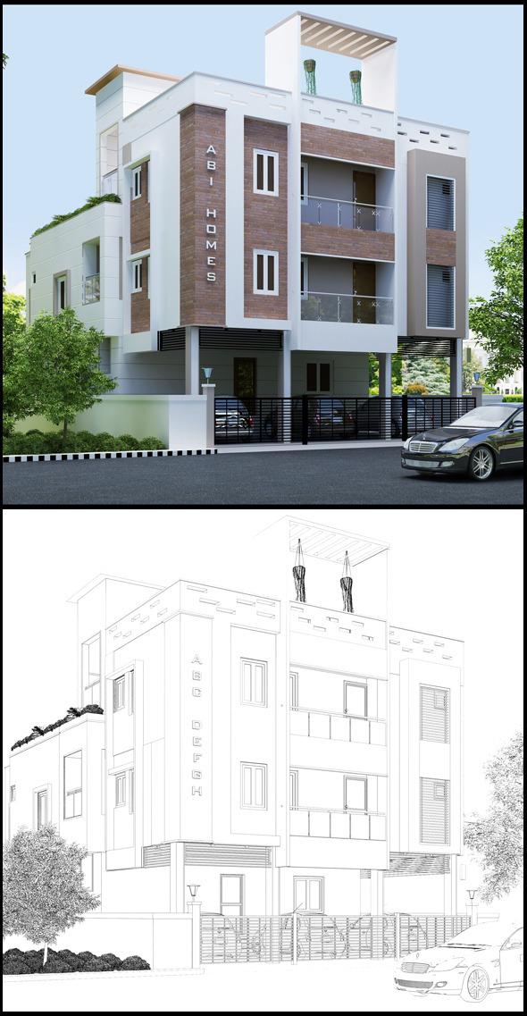 Realistic Building  - 3DOcean Item for Sale