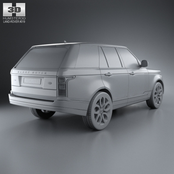 Land Rover Range Rover L405 2014 3d Model From Humster3d: Land Rover Range Rover (L405) 2014 By Humster3d