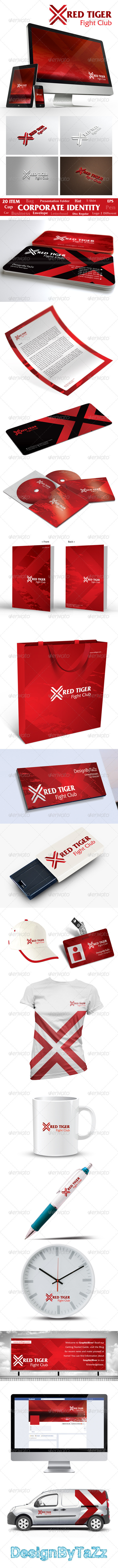 Red Tiger Corporate Identity Package - Stationery Print Templates