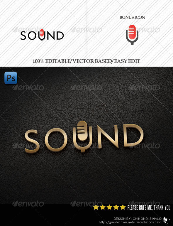 Sound Mic Logo Template - Abstract Logo Templates