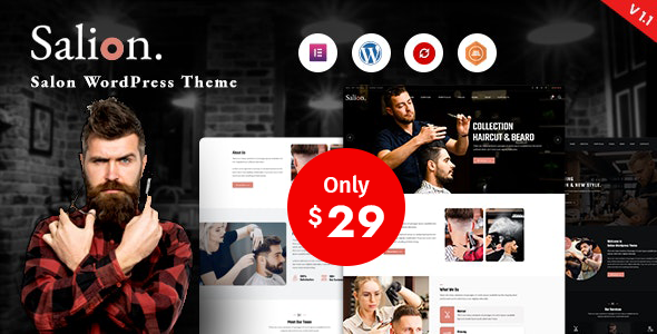 Exceptional Salion – Hair Salon WordPress Theme
