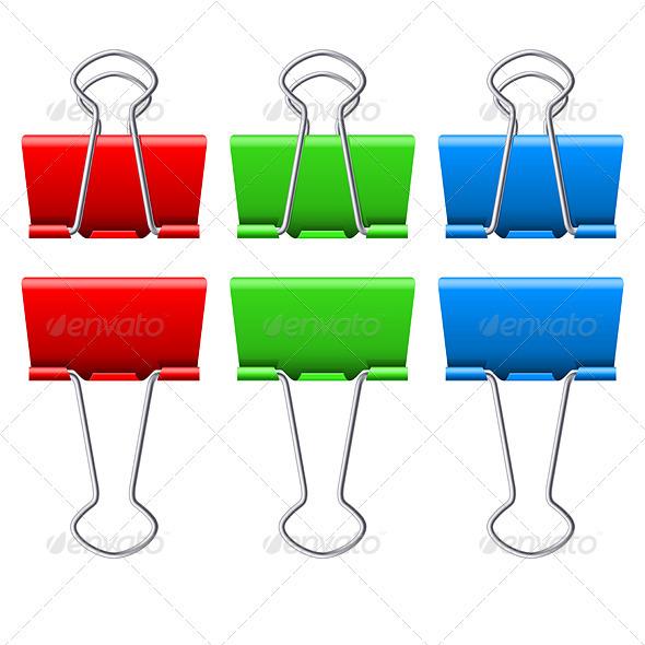 Binders clips - Miscellaneous Vectors