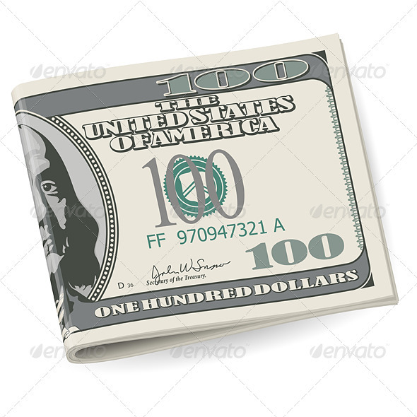 Folding dollars - Backgrounds Decorative