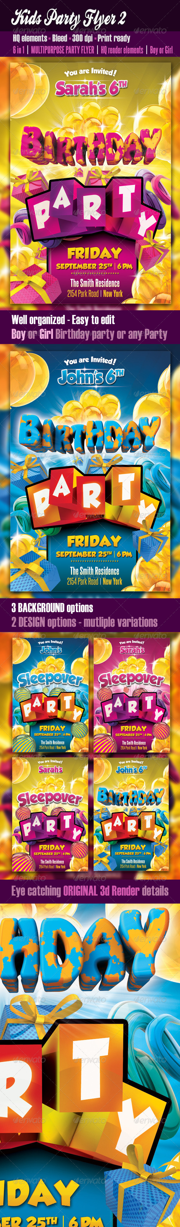 Kids Party Flyer2 - Clubs & Parties Events