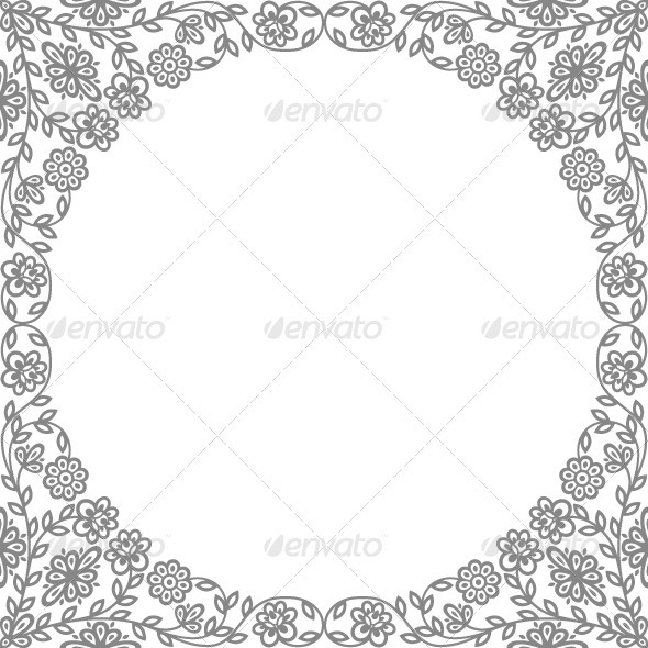 Vintage floral frames - Borders Decorative