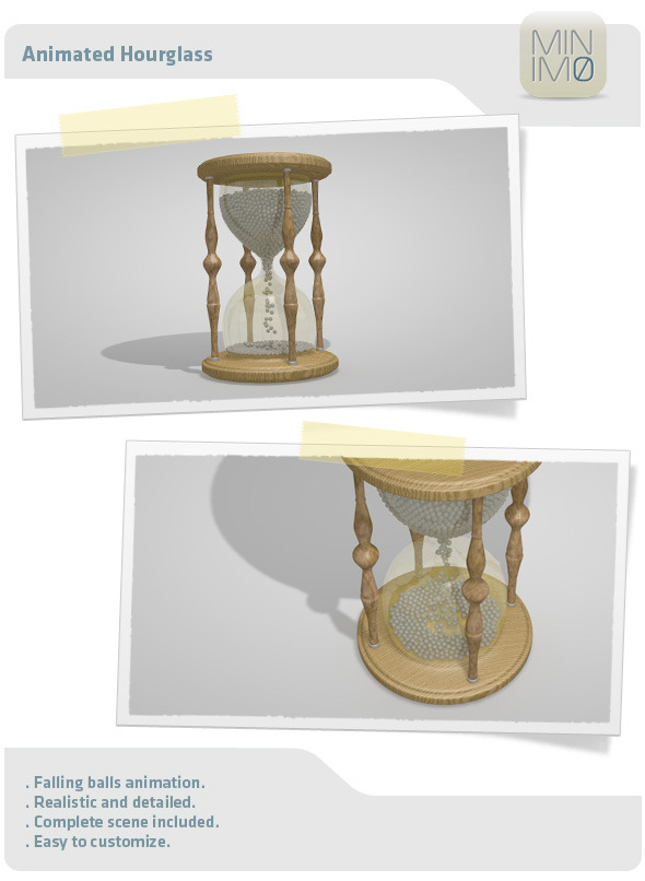 Animated Hourglass - 3DOcean Item for Sale