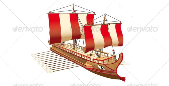 Greece war ship - Retro Technology